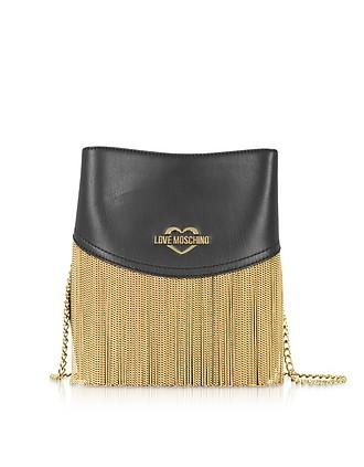 a8cc3380f3 Black Signature Metal Chain Bucket Bag - Love Moschino