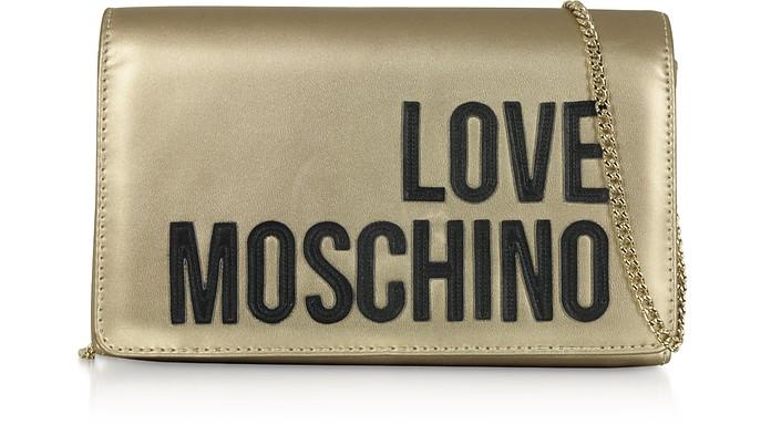 Love Moschino Signature Laminated Clutch - Love Moschino