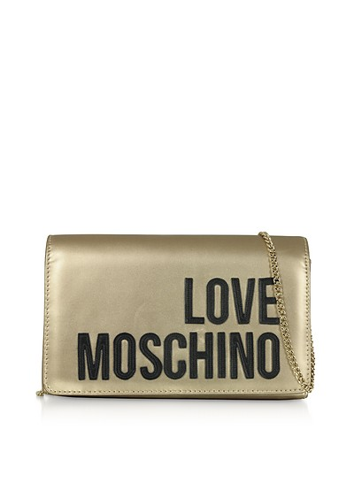 Love Moschino Signature Laminated Clutch - Love Moschino
