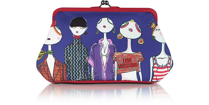 Love Moschino - Satin Twistlock Clutch  - Moschino