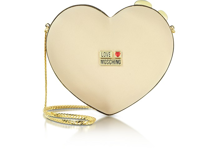 Love Moschino - Heart Satin Twistlock Clutch - Moschino