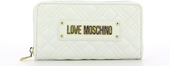 Women's White Wallet - Love Moschino