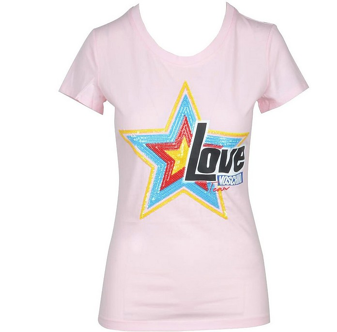 Women's Pink Tshirt - Love Moschino