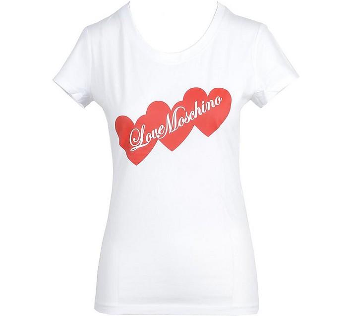 Women's White T-Shirt - Love Moschino