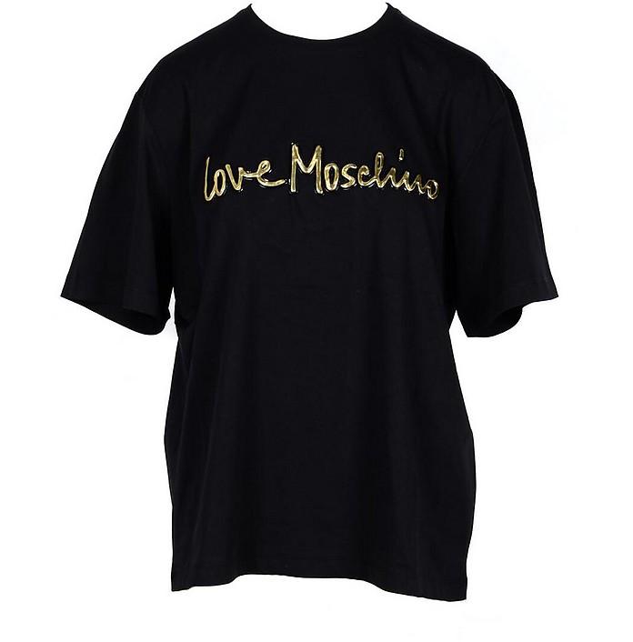 Women's Black T-Shirt - Love Moschino