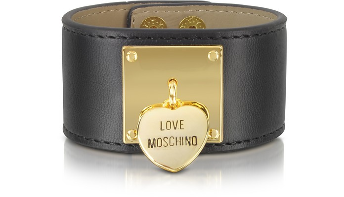 Black Locket Cuff Bracelet - Moschino