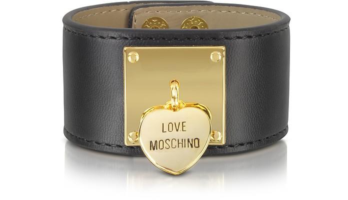 Black Locket Cuff Bracelet - Moschino / モスキーノ