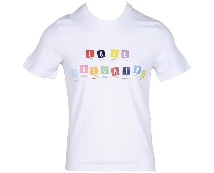Men's White T-Shirt - Love Moschino