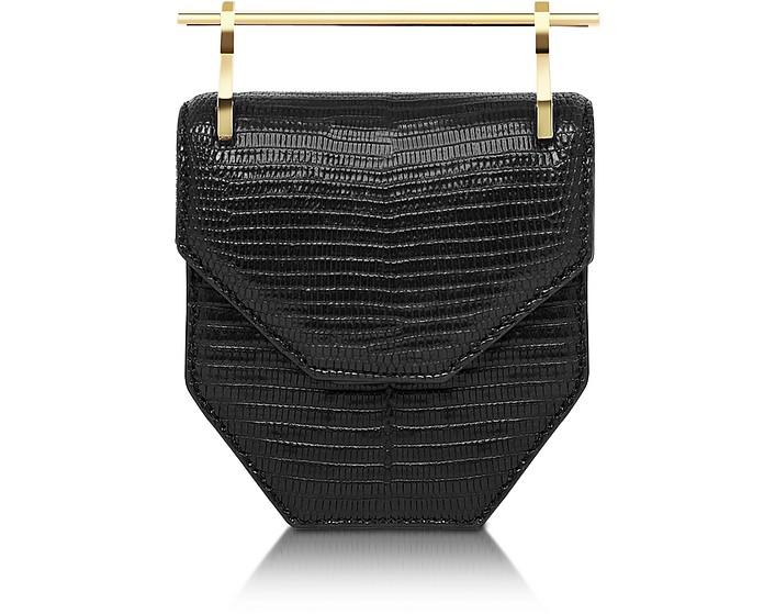 Mini Amor Fati Black Lizard Shoulder Bag - M2Malletier