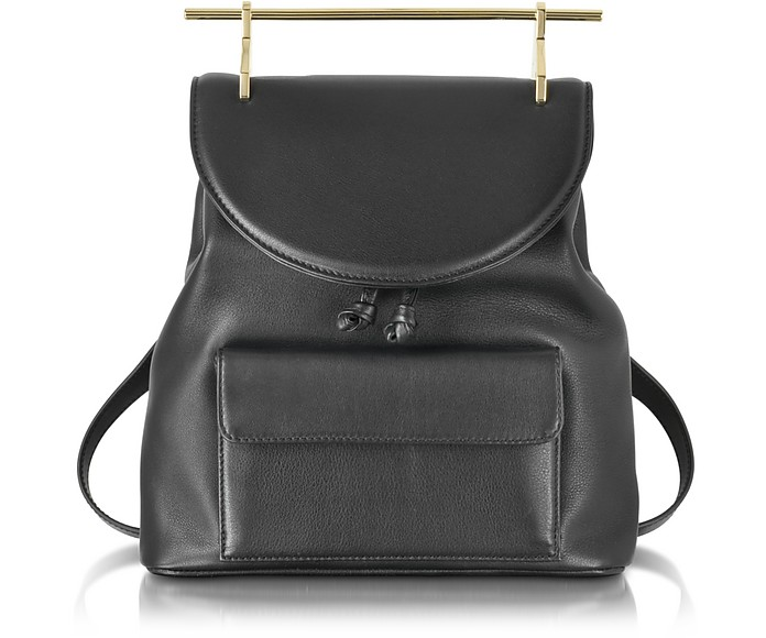 Black Leather Backpack - M2Malletier