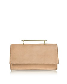 Alexia Sand Suede Shoulder Bag - M2Malletier