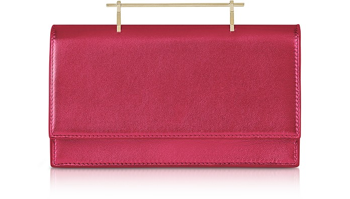 Alexia Metallic Hot Pink Leather Shoulder Bag - M2Malletier