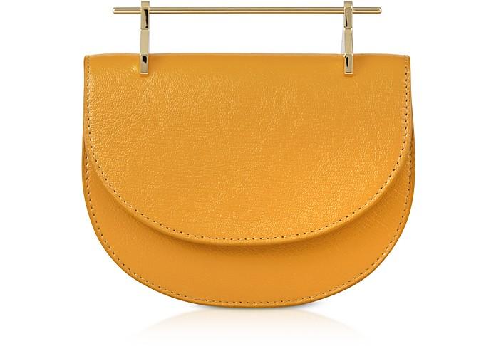 Tangerine Lux Leather Mini Half Moon Bag - M2Malletier