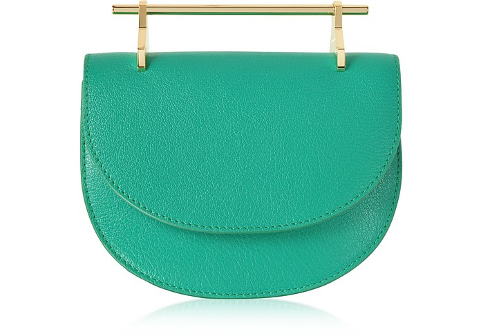 Pure Jade Lux Leather Mini Half Moon Bag - M2Malletier
