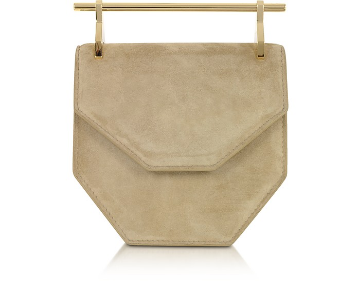 Mini Amor Fati Hazelnut Suede Crossbody Bag - M2Malletier