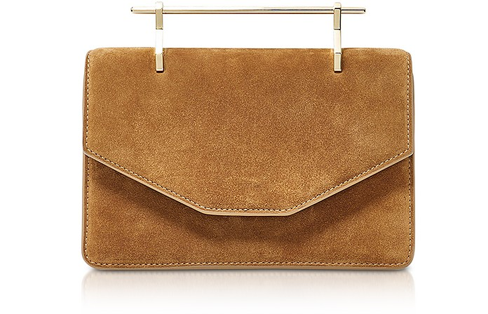 Indre Camel Suede Crossbody Bag - M2Malletier