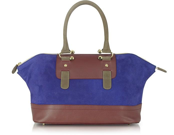 Laurette - Multicolor Leather Satchel - MySuelly