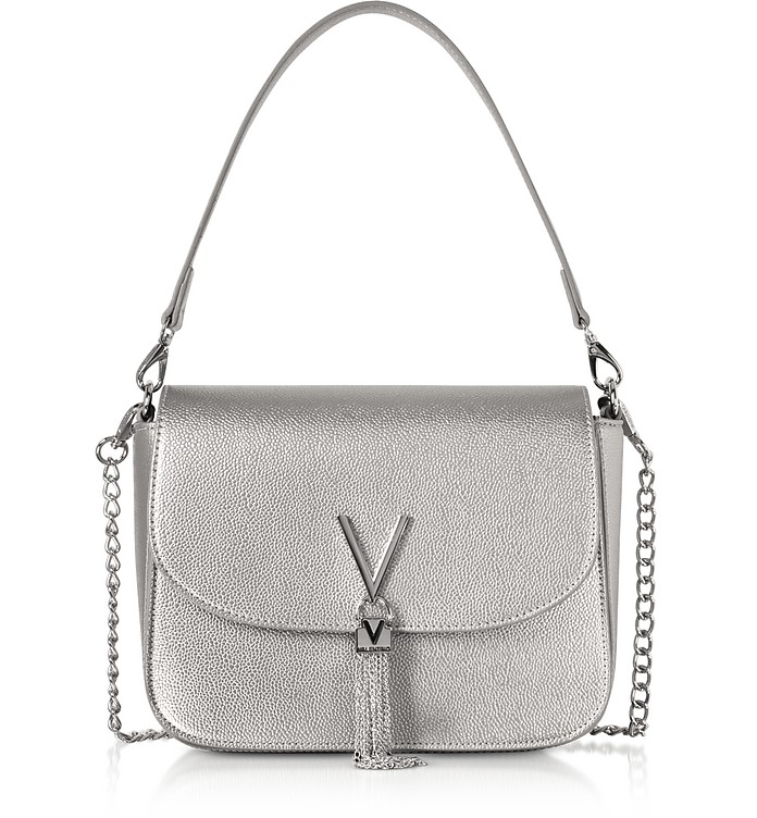 VALENTINO BY MARIO VALENTINO Eco Grained Leather Divina Top Handle Bag