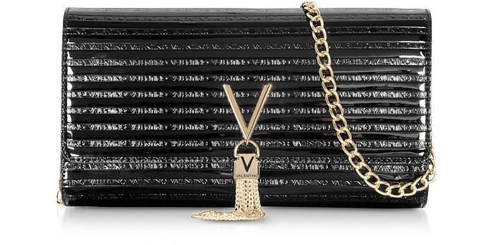 Mowgli Black Embossed Eco Leather Clutch - Valentino by Mario Valentino