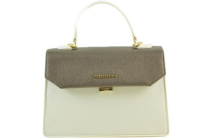 Women's White / Brown Handbag - Valentino by Mario Valentino