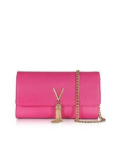 Bouganville Saffiano Leather Divina Shoulder Bag - Valentino by Mario Valentino
