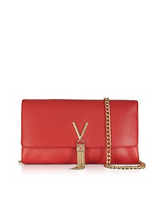 Lizard Embossed Eco Leather Divina Shoulder Bag - Valentino by Mario Valentino