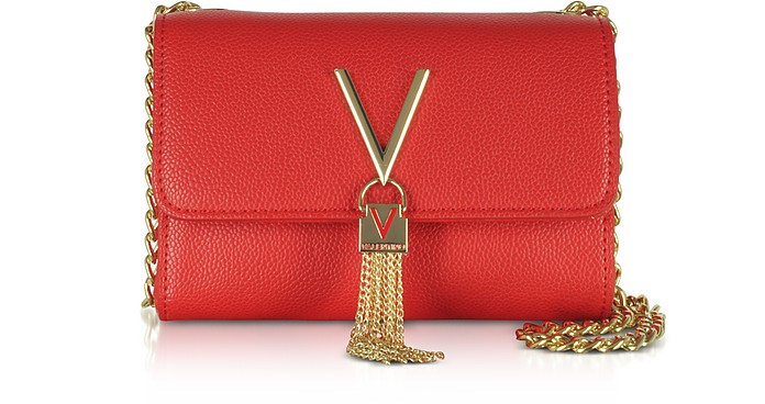 VALENTINO BY MARIO VALENTINO Lizard Embossed Eco Leather Divina Mini Shoulder Bag