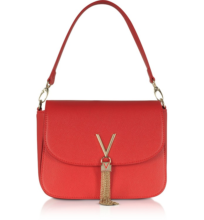 Lizard Embossed Eco Leather Divina Top Handle Bag - VALENTINO by Mario Valentino