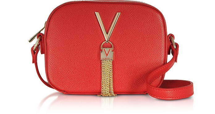Lizard Embossed Eco Leather Divina Mini Crossbody Bag - Valentino