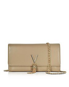 Diva Beige Eco-Leather Shoulder Bag - Valentino by Mario Valentino