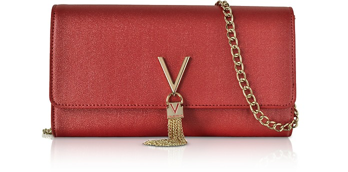VALENTINO BY MARIO VALENTINO Eco Grained Leather Marilyn Shoulder Bag