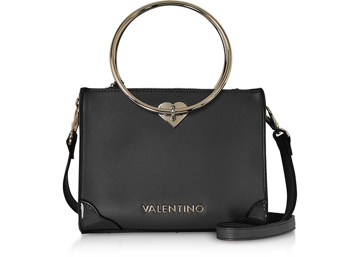 Eco Leather Aladdin Small Tote Bag w/Detachable Shoulder Strap - VALENTINO by Mario Valentino