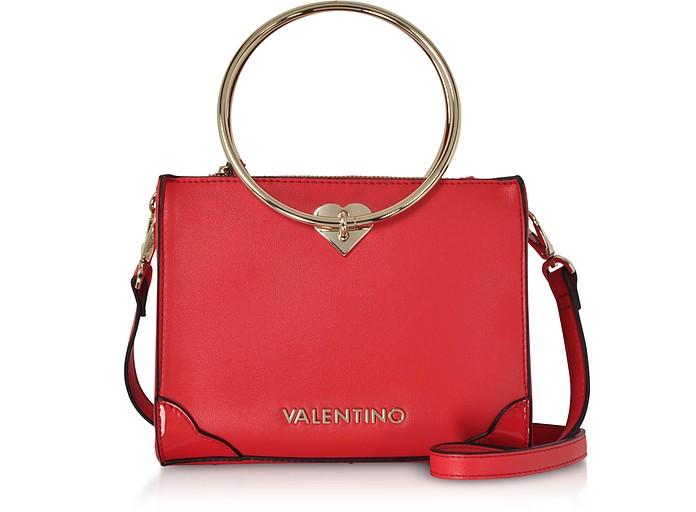 Eco Leather Aladdin Small Tote Bag w/Detachable Shoulder Strap - Valentino by Mario Valentino
