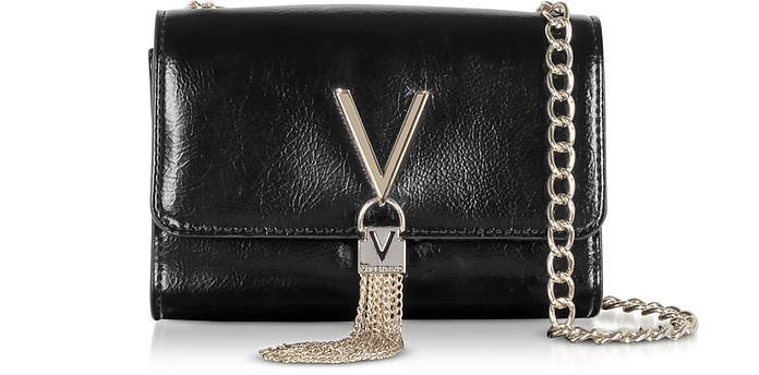 Oboe Shiny Eco Leather Shoulder Bag - VALENTINO by Mario Valentino