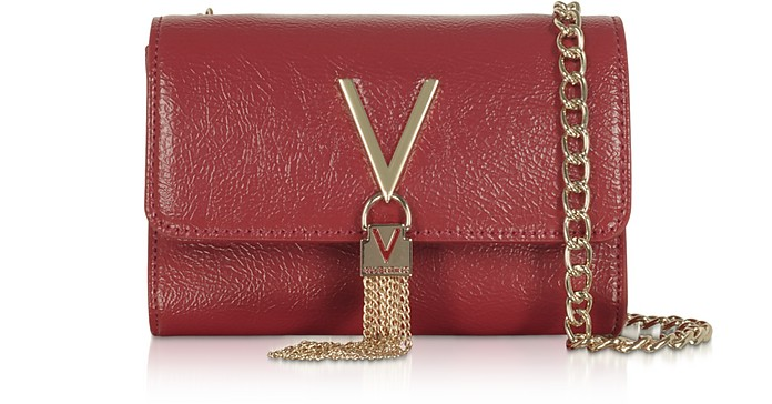 Oboe Shiny Eco Leather Shoulder Bag - Mario Valentino