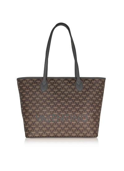 Liuto Signature Eco Leather Shoulder Bag - Valentino by Mario Valentino