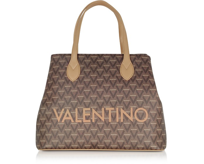 Liuto Signature  Eco Leather Tote Bag - VALENTINO by Mario Valentino