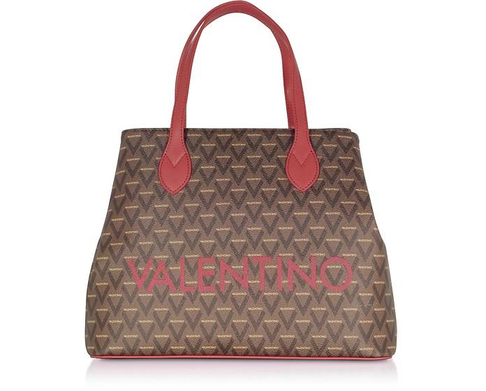Liuto Tote Bag in Eco Pelle con Logo - VALENTINO by Mario Valentino