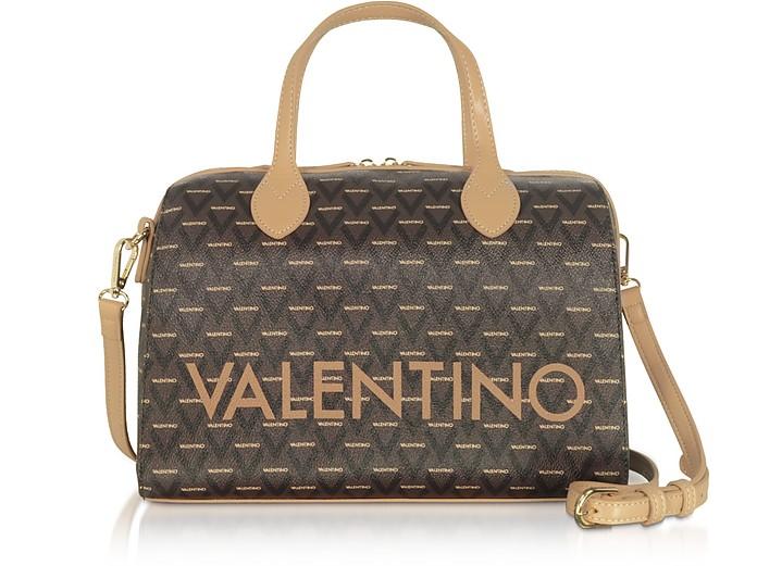Liuto Signature Eco Leather Satchel Bag - Valentino by Mario Valentino