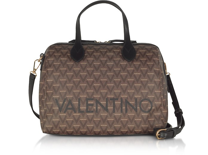 Liuto Signature Eco Leather Satchel Bag - VALENTINO by Mario Valentino