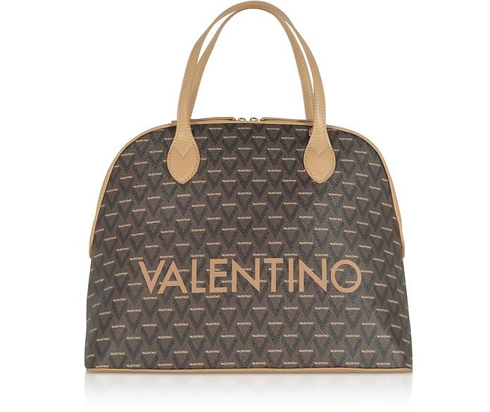 Liuto Signature Eco Leather Bowler Bag - VALENTINO by Mario Valentino