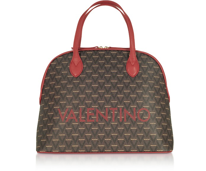 Liuto Signature Eco Leather Bowler Bag - VALENTINO by Mario Valentino