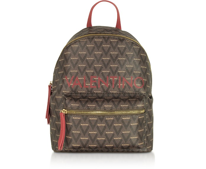 Liuto Signature Eco Leather Backpack - Valentino by Mario Valentino