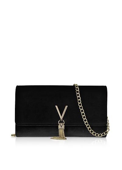Black Velvet Marilyn Shoulder Bag - Valentino by Mario Valentino