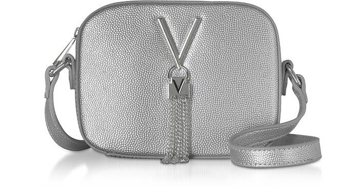 Gold Lizard Embossed Eco Leather Divina Mini Crossbody Bag - Valentino by Mario Valentino
