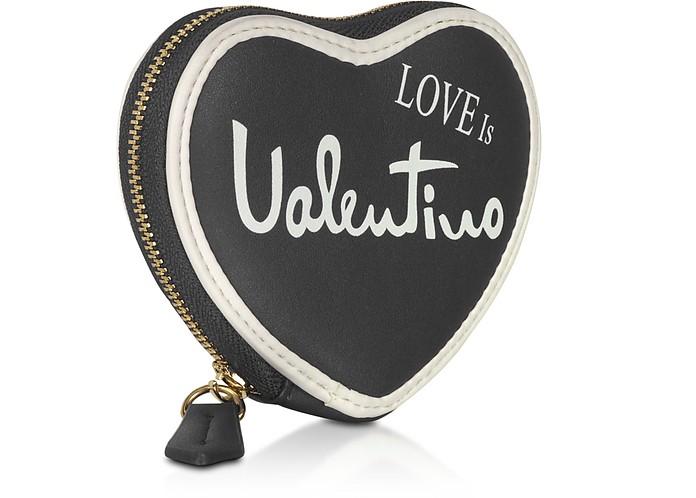 VALENTINO by Mario Valentino ブラック Stewie Eco Leather Zip