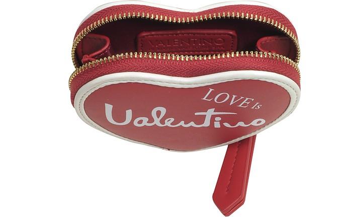 Valentino by Mario Valentino Red Stewie Eco Leather Zip