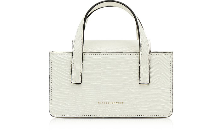 Lizard Embossed Leather Square Mini Tote - Marge Sherwood