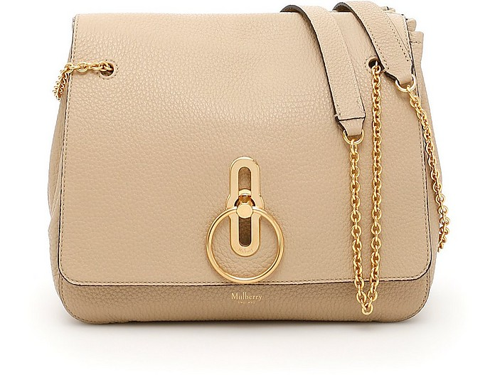 Nude Grainy Leather Shoulder Bag - Mulberry