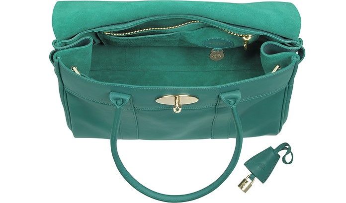 395b557318 Bayswater Emerald Green Micrograin Calf Leather Tote - Mulberry. Sold Out